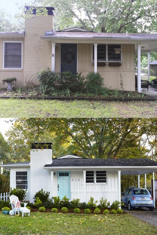 Curb appeal tips before after photos