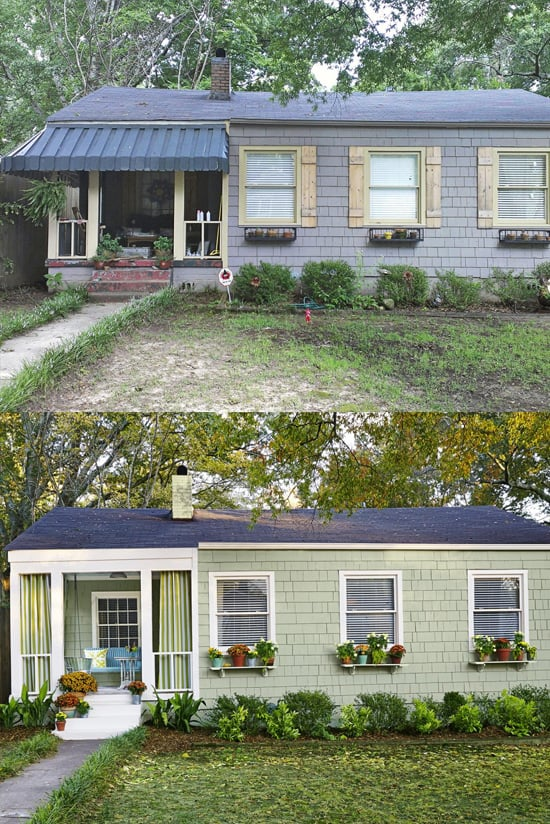 A house for sale in Norfolk County Ontario curb appearl before and after